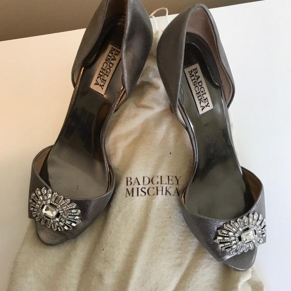 4ee49a4d1d Badgley Mischka Shoes | Nakita Embellished Satin Pump | Poshmark
